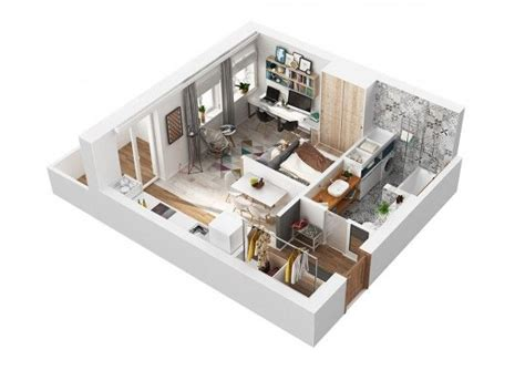 500 square meters living small with style 2 beautiful small apartment plans
