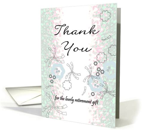 thank you letter for retirement gift thank you for the retirement gift abstract design with