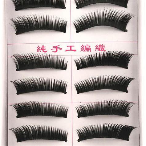 10 Pairs Set False Eyelashes 10 pairs thick lashes makeup false eyelashes black
