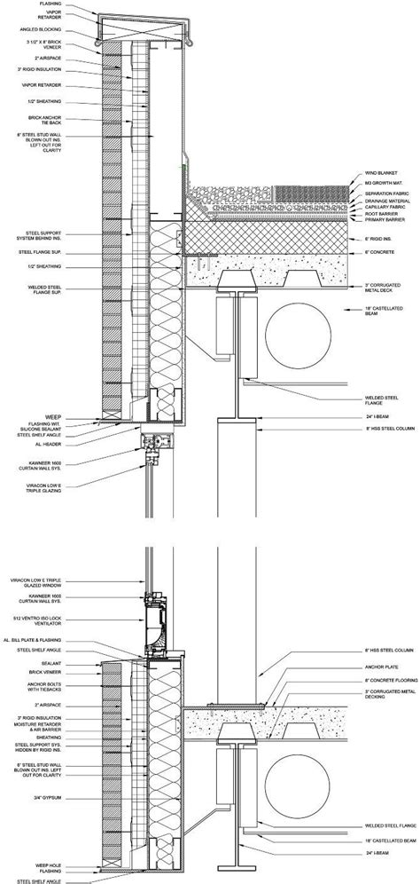flat roof section detail best 25 brick detail ideas on pinterest brick