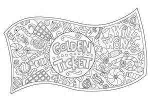 Willy Wonka Decorations Free Golden Ticket Colouring Download Hobbycraft Blog