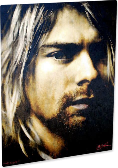 kurt cobain biography review kurt cobain art print painting mysterious wall decor