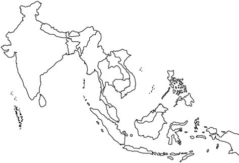 blank map of southern asia southeast asia outline map page