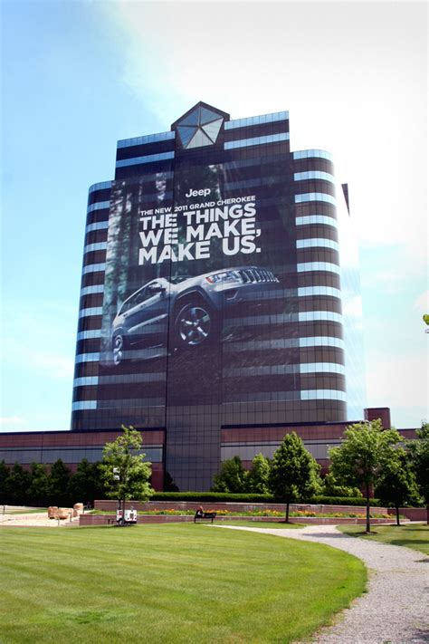 where is chrysler headquarters 187 chrysler headquarters gets wrapped up with the 2011 jeep