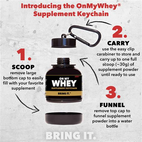 supplement keychain onmywhey 174 launches patented supplement keychain bottle