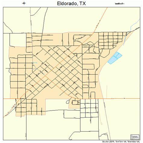 el dorado texas map eldorado texas map 4822960