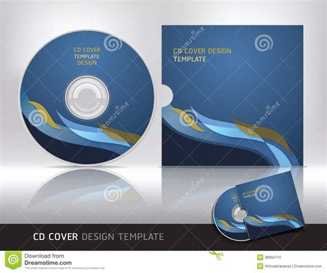 cd cover design template stock vector image 38950710