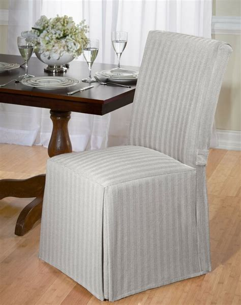 Grey Slipcovers by Luxurious Dining Chair Slipcover Herringbone 100 Cotton