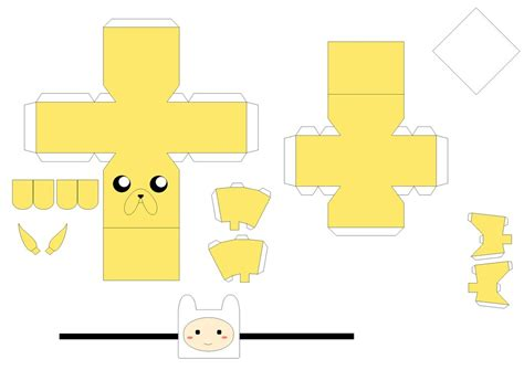 Paper Craft Templates - jake papercraft template by huski fan on deviantart