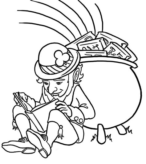 forever grayscale coloring book coloring book books leprechaun read a book coloring page for
