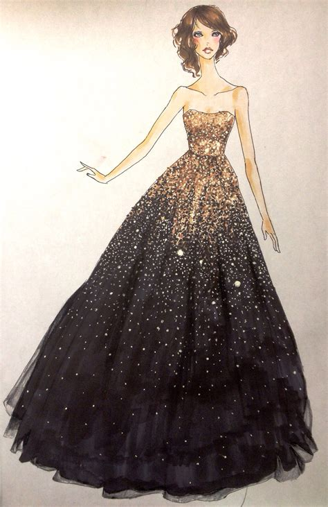 fashion illustration gown dress sketch marisa s board sketches