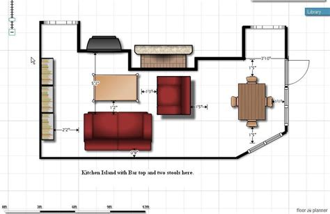 floor plan couch sofa size floor plan fireplace kitchen family room