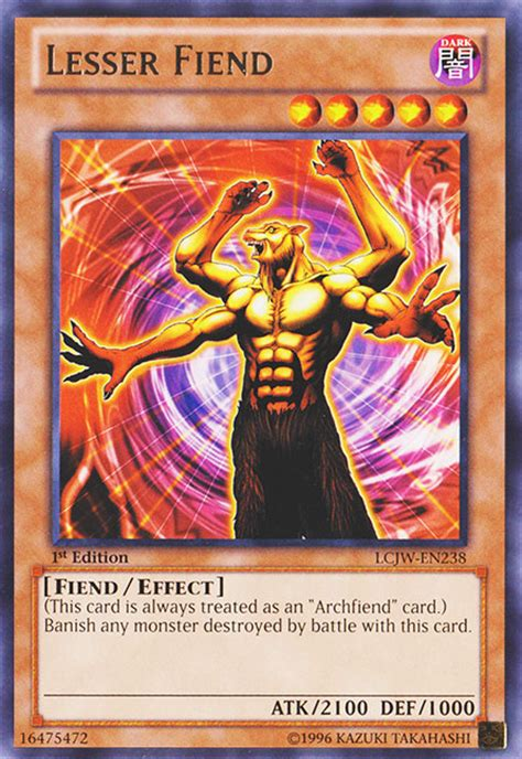 yugioh feen deck lesser fiend yu gi oh it s time to duel