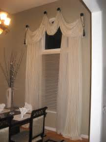 Curtains On Windows With Blinds Brown Curtains With White Curving Patterns For Glass Windows White Blinds On The