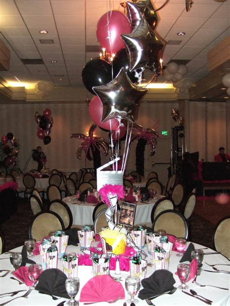 centerpiece ideas for hollywood party helium tanks for