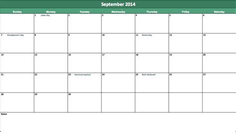 september 2014 calendar template september 2014 calendar template