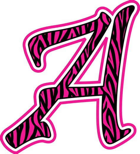 zebra print stickers for walls pink zebra print letters clipart best