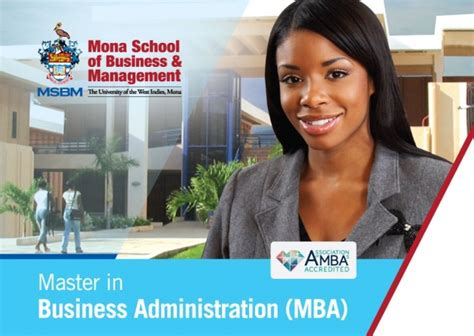 Uwi Mba by Mba Programme Mona School Of Business Management