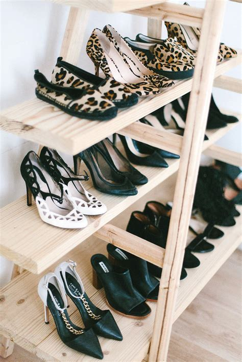 diy shoe shelf diy update the ladder shoe shelf a pair a spare