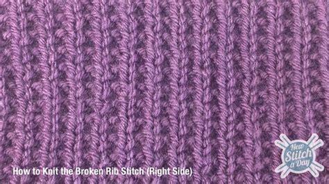 rib stitch knitting the broken rib stitch knitting stitch 165 new