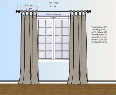 How To Hang Curtain Rods | how to measure for your curtain rod curtains and rugs