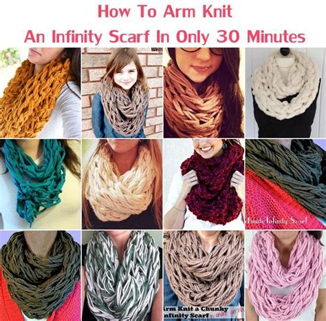how to make a scarf without knitting creative ideas diy arm knit infinity scarf in 30 minutes