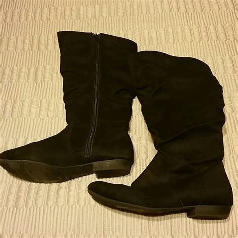 lower east side boots 49 lower east side shoes faux suede slouch boots