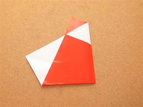 5 Step Origami - how to make an origami santa 2 fold version 5 steps