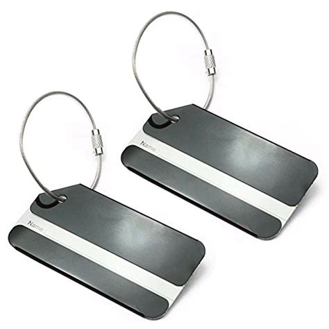 Name Tag Id Tas Koper Aluminum Metal Travel Luggage Bags Tag Silver 1 set of 2 aluminum metal travel suitcase identifier luggage tags labels bag id name address tag