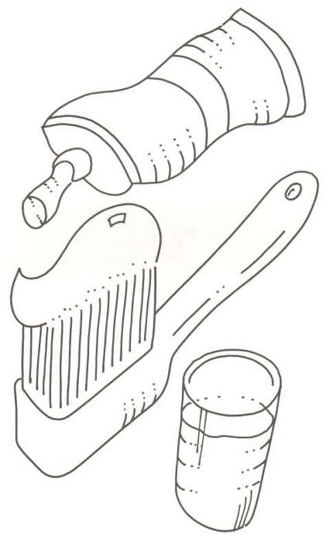 imagenes para colorear utiles de aseo personal dibujos de objetos de higiene personal para colorear imagui
