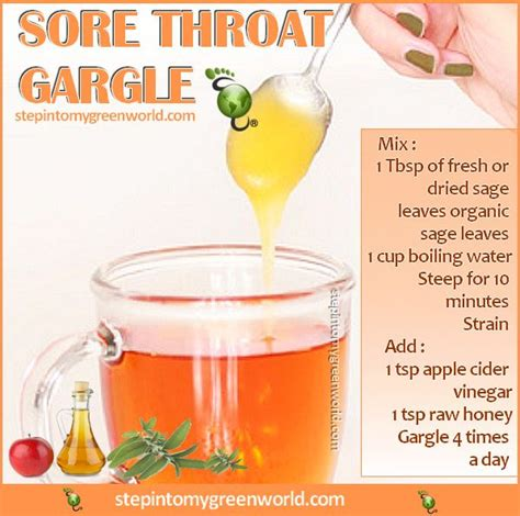 Sore When Detoxing by Sore Throat Gargle Honey Apple Cider Vinegar A