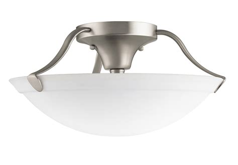 Semi Flush Mount Ceiling Light Fixtures Kichler 3627ni Semi Flush Ceiling Fixture