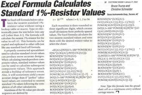 standard resistor values 1 percent audio scientific auto calculators various references links