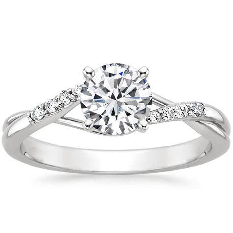 18k white gold chamise diamond ring top view wedding