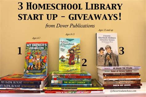 Library Giveaways - homeschool library start up for all ages the curriculum choice