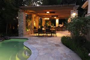 Kitchen Wall Mural Ideas pergola with ledge stone columns michael glassman