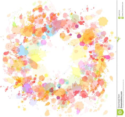 abstract watercolor blobs background stock photo image 24872740