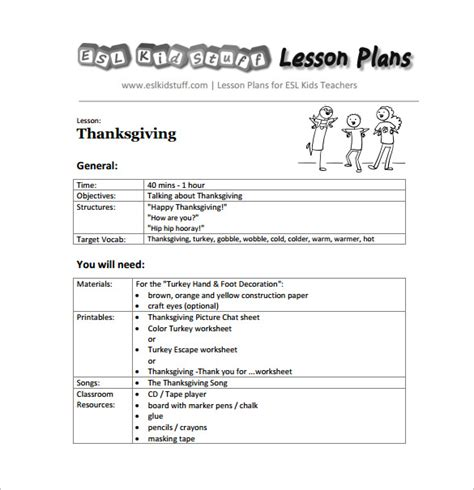 free kindergarten lesson plan template kindergarten lesson plan template 3 free word documents