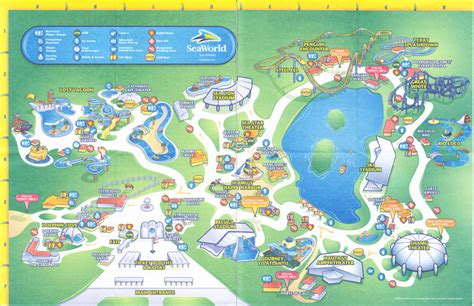 seaworld texas map seaworld of texas 2009 park map