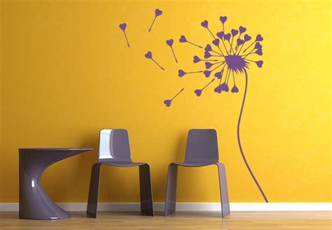 wall stickers hearts dandelion hearts wall sticker wall