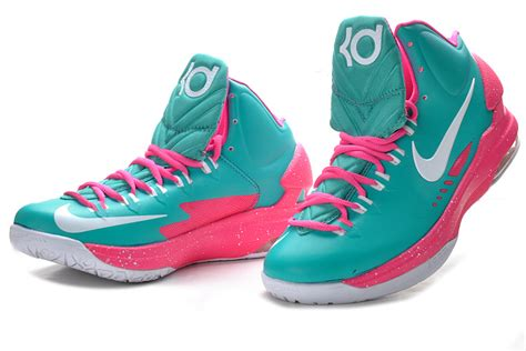cheap nike kd 5 pink green white cheap lebron