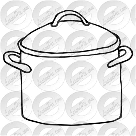 Water Pot Outline by Cooking Pot Outline Clipart Clipart Suggest
