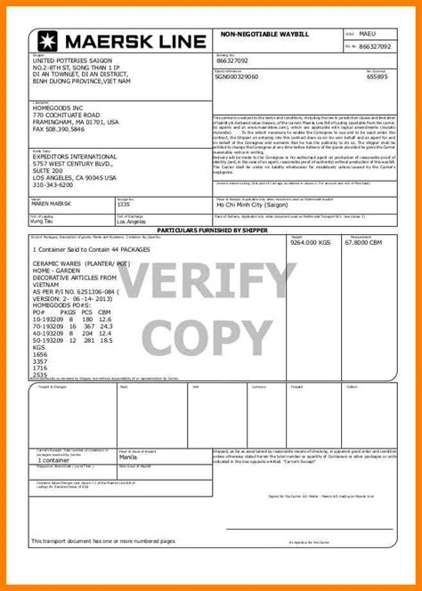 Agreement Of Sale Template For A Vehicle 7 maersk bill of lading resume pictures