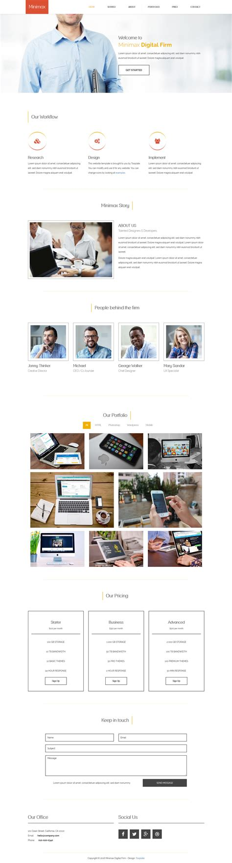layout email html5 minimax html5 free html css templates