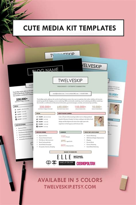 17 Best Images About Media Kit Design Exles On Pinterest Scrap Books Creating A Blog And Blog Marketing Kit Template