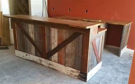 how to build a wood bar top bar made from reclaimed pine barn siding with live edge top