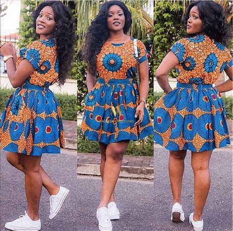 ankara new gown style latest ankara fashion 100 super cute ankara skater dress