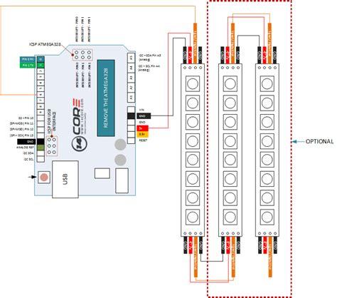 wiring ws  bit rgb led strip  arduino corecom