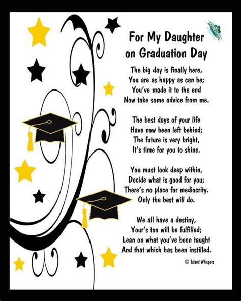 Graduation Songs For My Daughter | 17 best ideas about graduation poems on pinterest