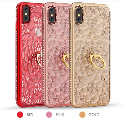 Silikon Softcase Ring Stand Water Glitter For Iphone 5g 5s fashion glitter iphone x cases with ring for iphone 7 8 plus stand cover for